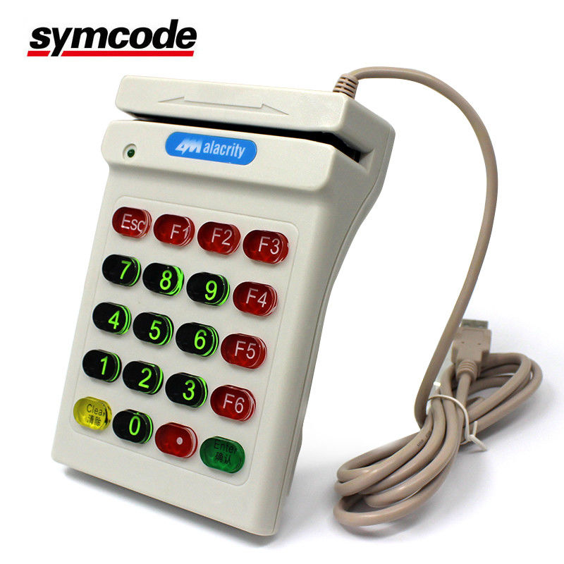 Manual Magnetic Stripe Card Reader Excellent Hand Feel For Restaurant Receipt